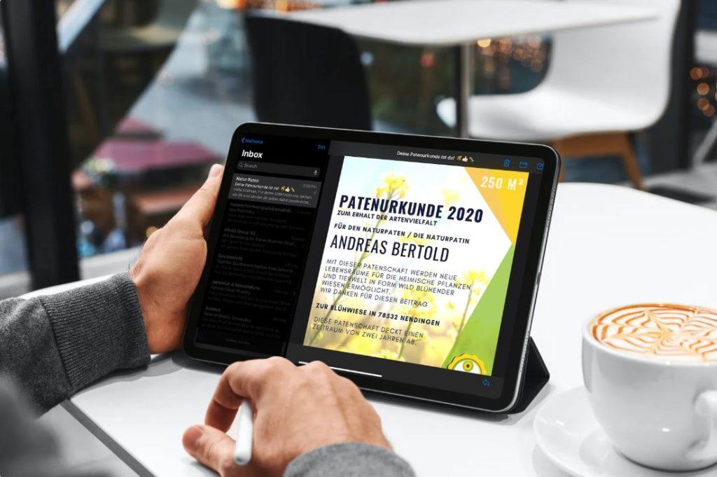 Blühpatenurkunde Digital